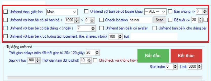 xoa ban be khong tuong tac facebook